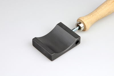 Graphite paddle 60x50x15mm, with ellipse shaper
