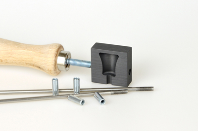 Graphite knob roller, small, pattern no.7