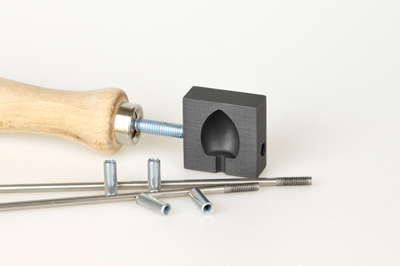 Graphite knob roller, small, pattern no.13