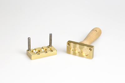 Bead press for the flat mandrels: three  three half-balls - 20, 15, 10mm, mandrel guides 5x2mm