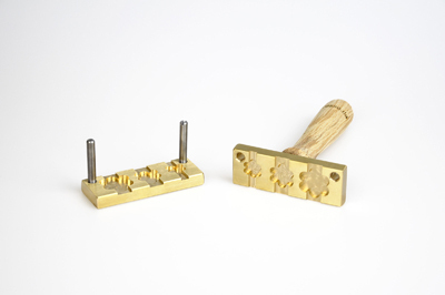 Bead press for the flat mandrels: three  flowers, flat -15, 20, 25mm