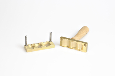 Bead press for the flat mandrels: three nuggets - 17, 22, 28mm