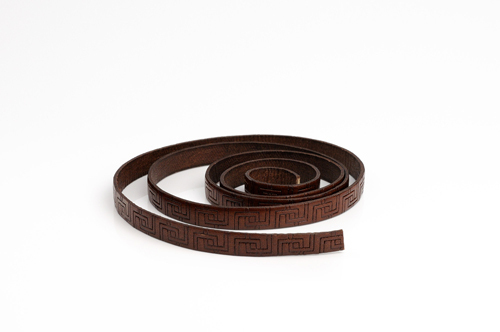"Leather cord made from genuine leather - ""italian style"", 10 mm wide, pattern no. 309"