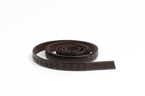 "Leather cord made from genuine leather - ""italian style"", 10 mm wide, pattern no. 312"