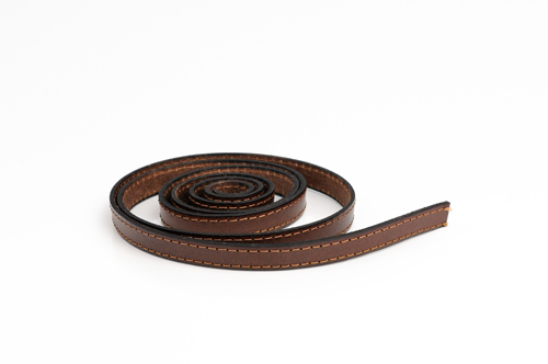 "Leather cord made from genuine leather - ""italian style"", 10 mm wide, pattern no. 505"