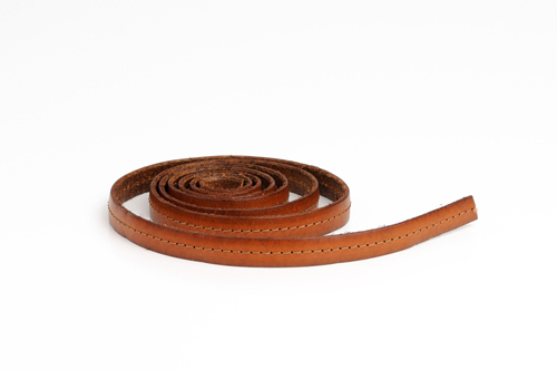 "Leather cord made from genuine leather - ""italian style"", 10 mm wide, pattern no. 506"