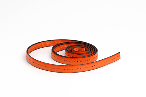 "Leather cord made from genuine leather - ""italian style"", 10 mm wide, pattern no. 508"