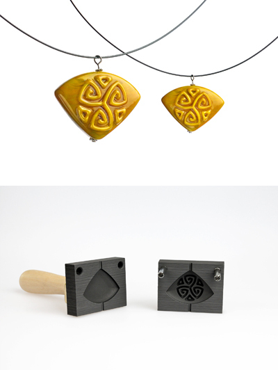Bead press pendant with celtic pattern (pattern 12_2)