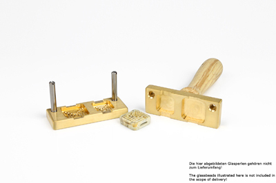 Bead press for the flat mandrels: two squares with labyrint: 25x25mm and 20x20mm