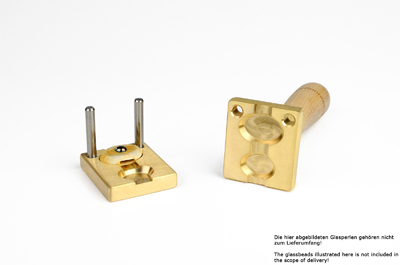 Bead press for the flat mandrels: two cameo: 28x20mm and  22x18mm