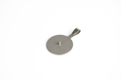 Interchangeable pendant with 2.5mm thread, diameter 25mm, for beads up to 30mm