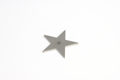Cabochon disk, star shape, with 2.5mm thread