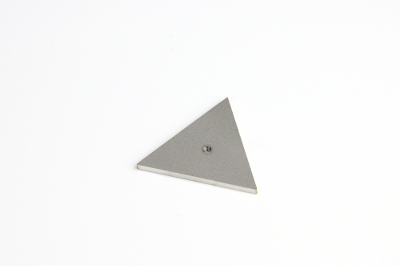 Cabochon disk, triangle, with 2.5mm thread